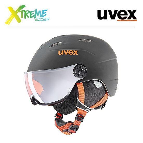 Kask UVEX JUNIOR VISOR PRO Black-Orange Mat