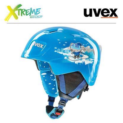 Kask UVEX MANIC Blue Snow Dog