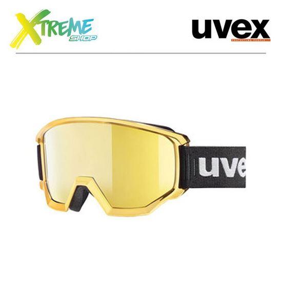 Gogle UVEX CONTEST FM CHROME Gold Chrome