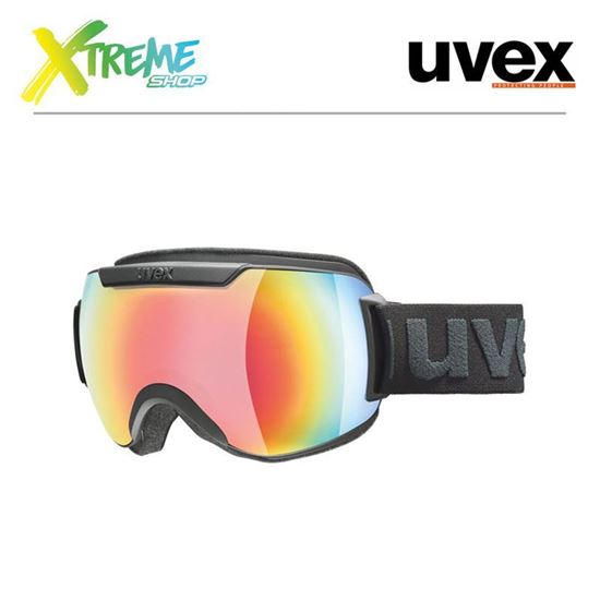 Gogle UVEX DOWNHILL 2000 FM Black Mat/Mirror Rainbow