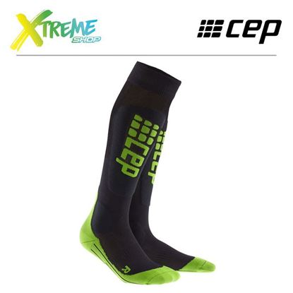 Skarpety kompresyjne CEP SKI ULTRALIGHT SOCKS MEN Black/Green