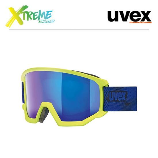 Gogle Uvex ATHLETIC FM Lime Indygo Mat