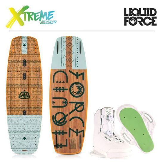 Deska wakeboard Liquid Force VAMP 2019 + Wiązania Liquid Force HITCH WHITE 2019 1