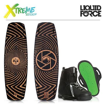 Deska wakeboard Liquid Force FLX 2019 + Wiązania Liquid Force CLASSIC 2019