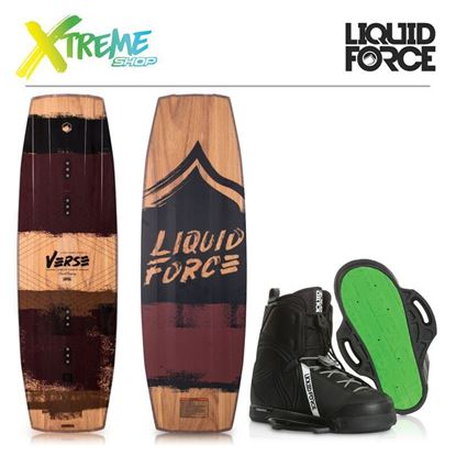 Deska wakeboard Liquid Force VERSE 2019 + Wiązania Liquid Force CLASSIC 2019 1