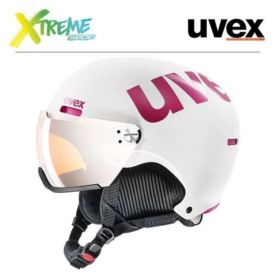 Kask Uvex HLMT 500 VISOR White-Pink Mat