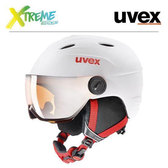 Kask Uvex JUNIOR VISOR PRO White-Red Mat