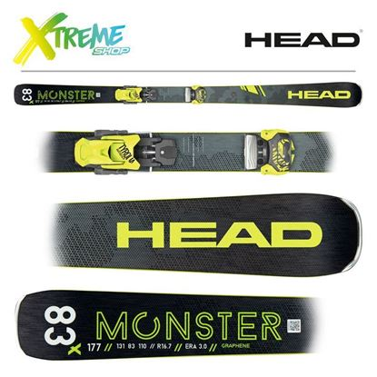 Narty Head MONSTER 83 X 2020 + Wiązania Head ATTACK 11