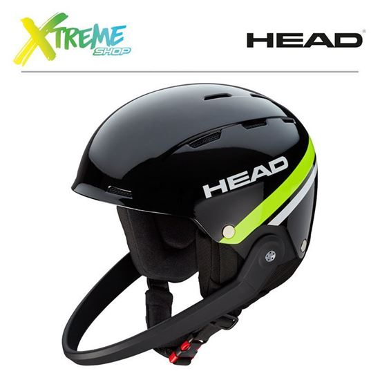 Kask Head TEAM SL Black/Lime Front