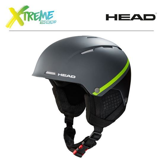 Kask Head TUCKER BOA Anthracite/Lime Front