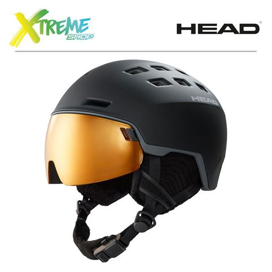 Kask Head RADAR POLA Black Front