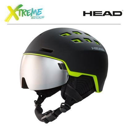 Kask Head RADAR Black/Lime Front