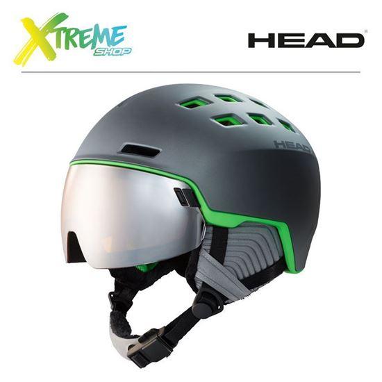Kask Head RADAR Grey/Green Front