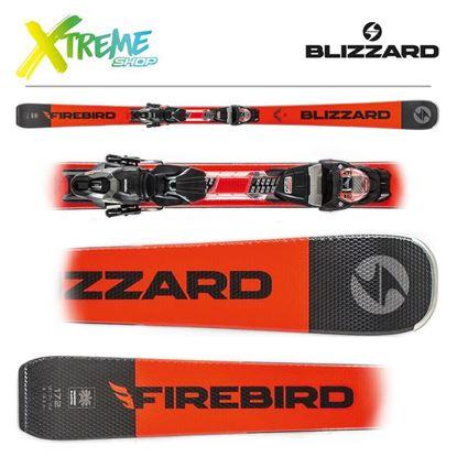 Narty Blizzard FIREBIRD TI 2020 Black/Orange + Wiązania TPX 10 DEMO