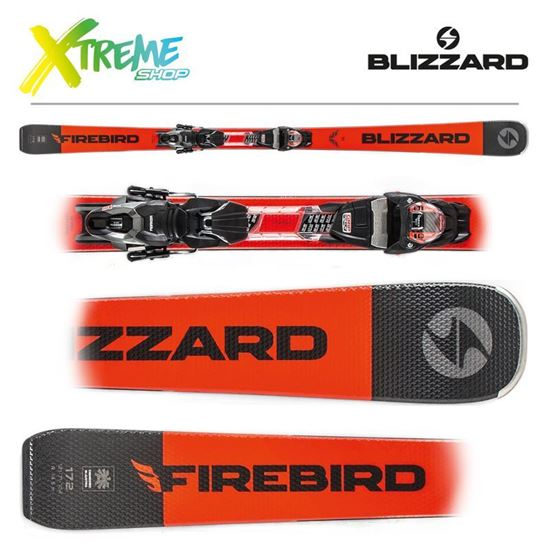 Narty Blizzard FIREBIRD TI 2020 Black/Orange + Wiązania TPX 10 DEMO