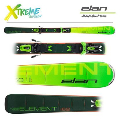 Narty Elan ELEMENT GREEN 2021 + Wiązania EL 10.0