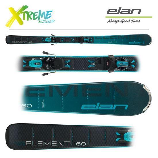 Narty Elan ELEMENT BLACK/BLUE 2021 + Wiązania ELW 9.0