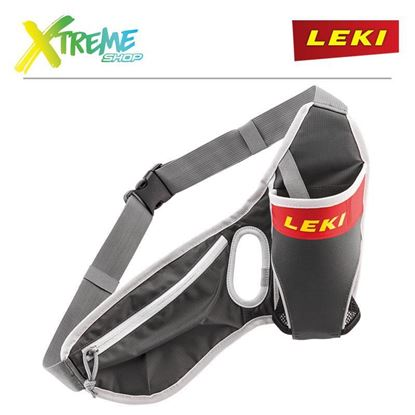Pas biodrowy Leki DRINKBELT Anthracite/Red/Neonyellow