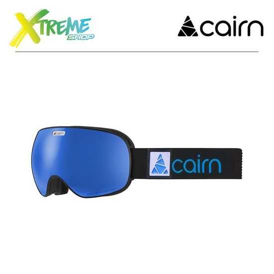Gogle Cairn FOCUS OTG Mat Black Blue Mirror