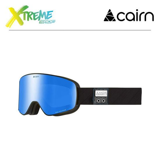 Gogle Cairn MAGNITUDE POLARIZED Mat Black Blue
