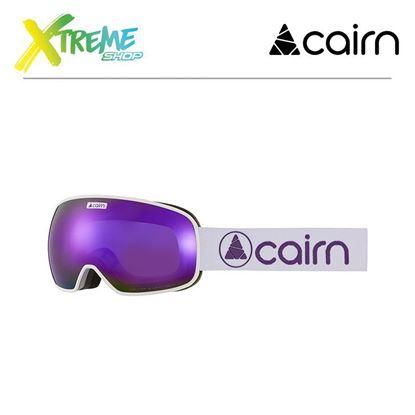 Gogle Cairn MAGNETIK Mat Silver Purple