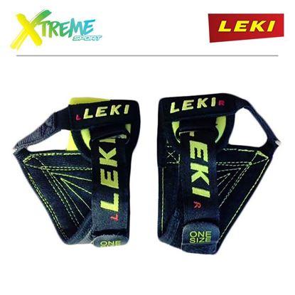 Paski do kijów narciarskich Leki Trigger S WORLDCUP STRAP Black/Neon