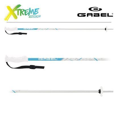 Kije narciarskie Gabel LUNA White/Blue