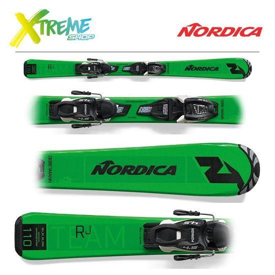 Narty Nordica TEAM J RACE FDT 2021 Green/Black + Wiązania JR 7.0 FDT