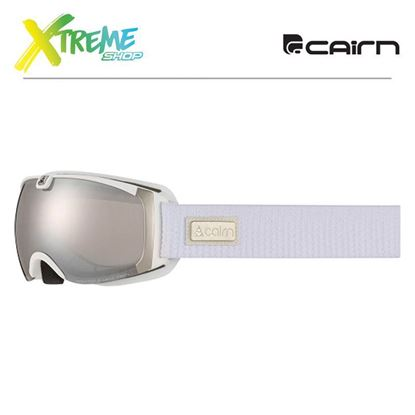 Gogle Cairn PEARL Mat White Silver