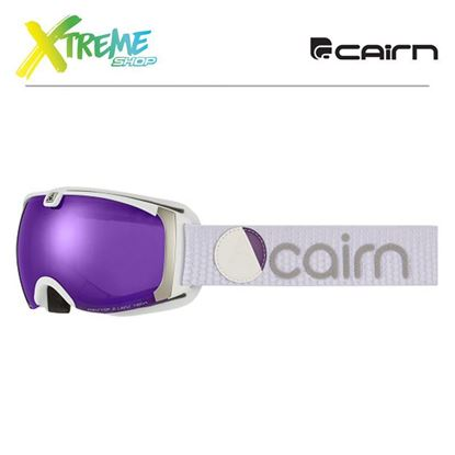 Gogle Cairn PEARL Mat White Purple