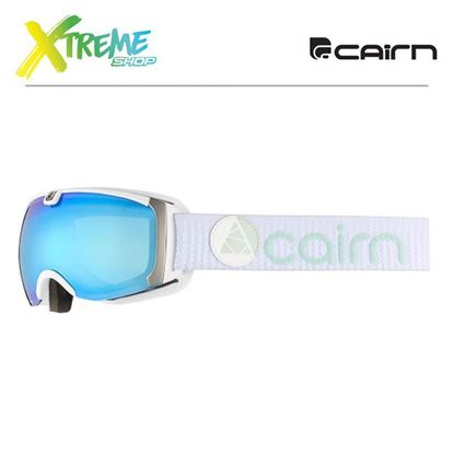 Gogle Cairn PEARL Mat White Ice Blue