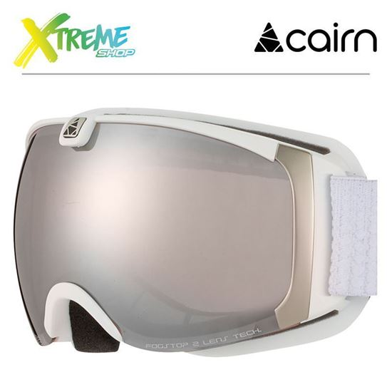 Gogle Cairn PEARL 801 Mat White Silver 1