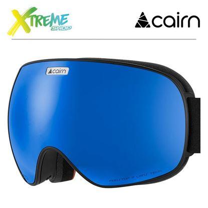 Gogle Cairn FOCUS OTG 3202 Mat Black Blue Mirror 1
