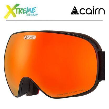 Gogle Cairn FOCUS OTG 3102 Mat Black Orange Mirror 1