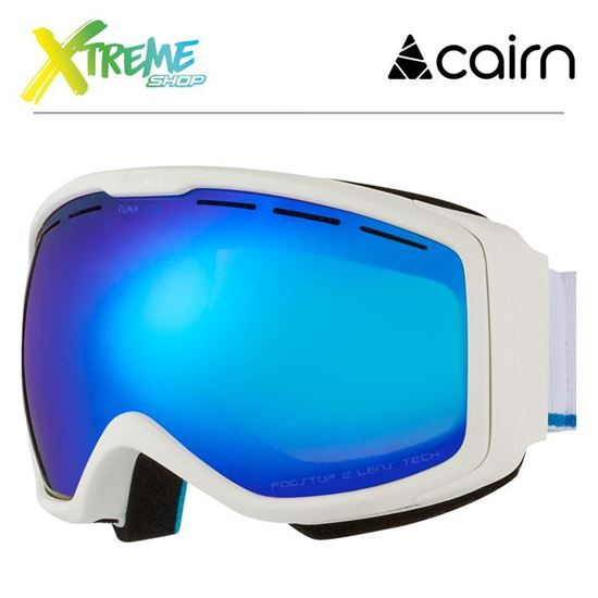 Gogle Cairn Funk OTG 8101 Mat White Blue 1