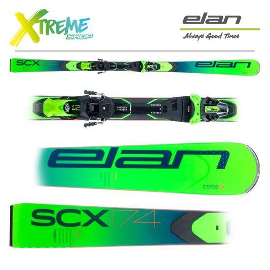 Narty Elan SCX 2021 + Wiązania EMX 12