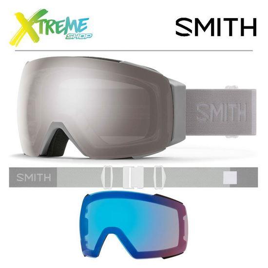 Gogle Smith I/O MAG Cloudgrey - ChromaPop Sun Platinum Mirror + ChromaPop Storm Rose Flash