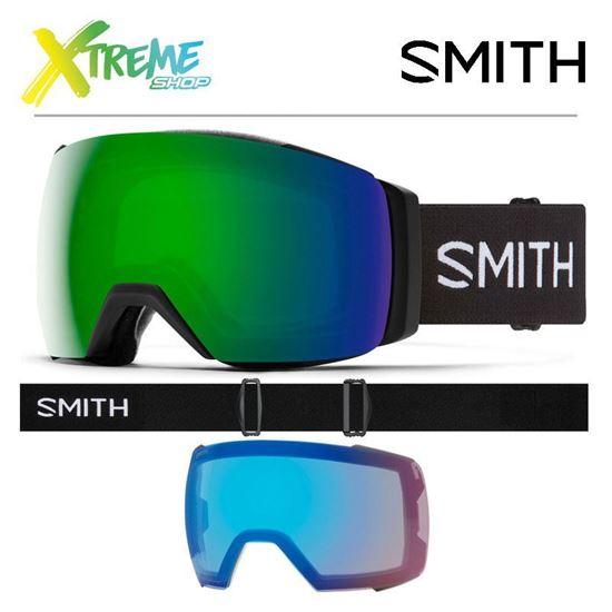Gogle Smith I/O MAG XL - Black ChromaPop Sun Green Mirror + ChromaPop Storm Rose Flash