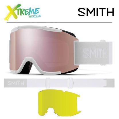 Gogle Smith SQUAD White Vapor - ChromaPop Everyday Rose Gold Mirror + Yellow