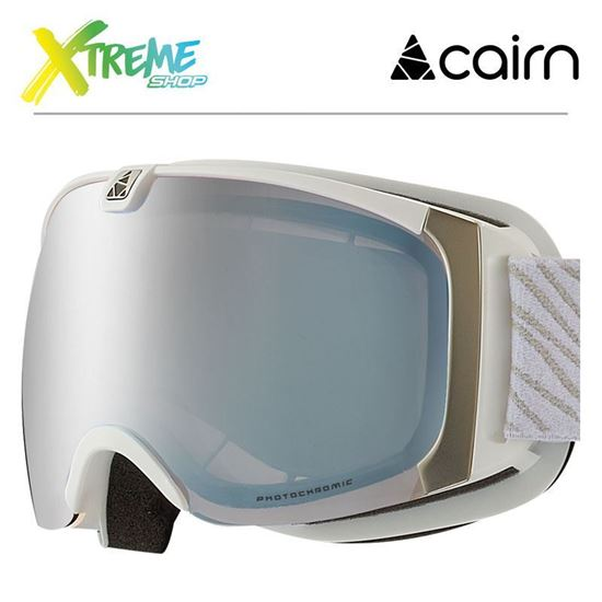 Gogle Cairn PEARL EVOLIGHT NXT 4102 Mat White Silver 1